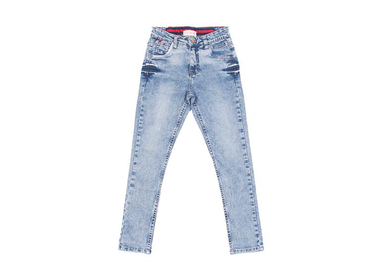 Jean skinny frosteado y desgaste