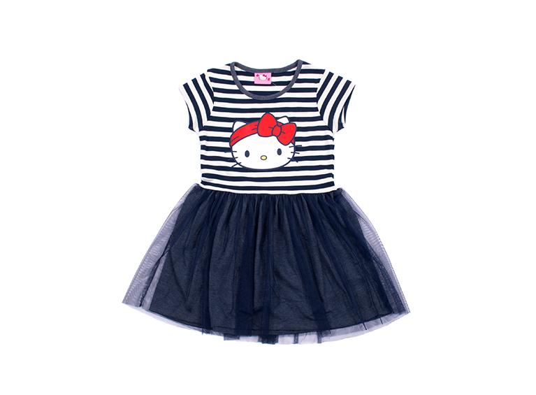 Vestido infantil manga corta
