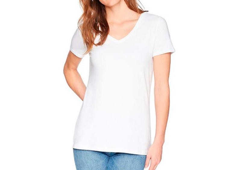 Camiseta antifluido cuello en V M