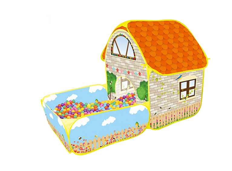 Carpa en forma de casa