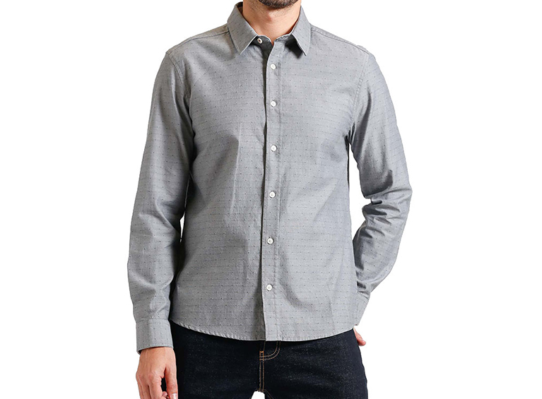 Camisa slim manga larga con diseño