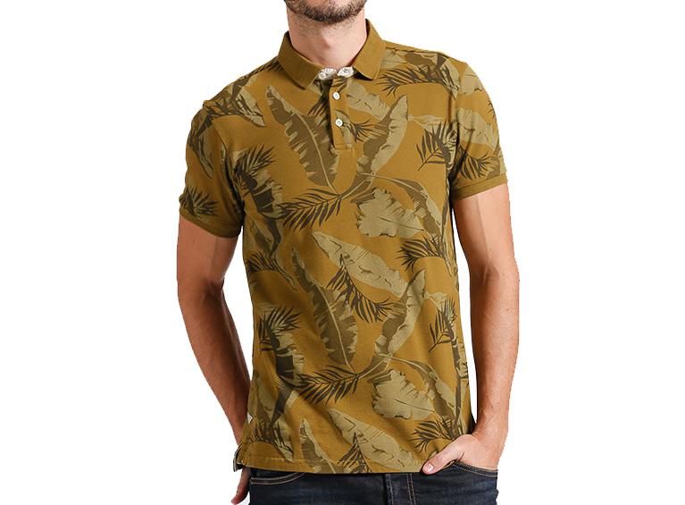 Camiseta polo slim con diseño