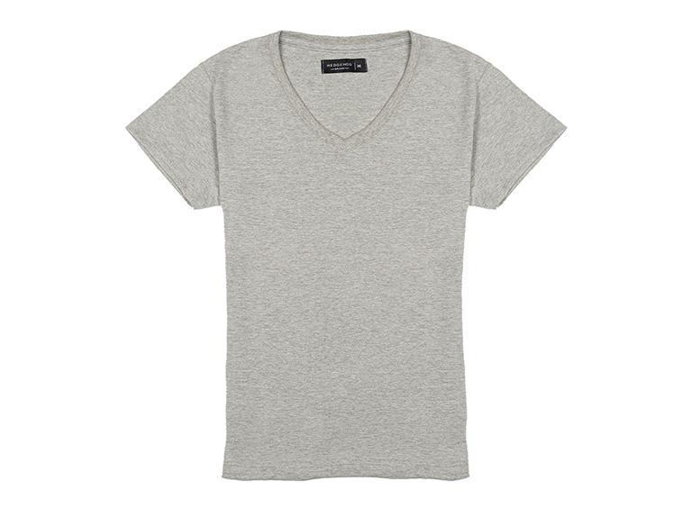Camiseta cuello en V para mujer