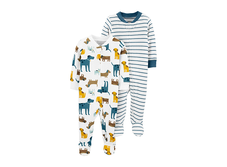 Monos Animalitos Zip-Up Sleep & Plays